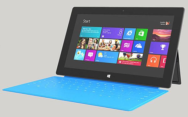 微软自信Surface显示效果超New iPad