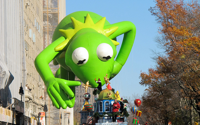 Kermit the Frog at the Macy's Thanksgiving Day Parade