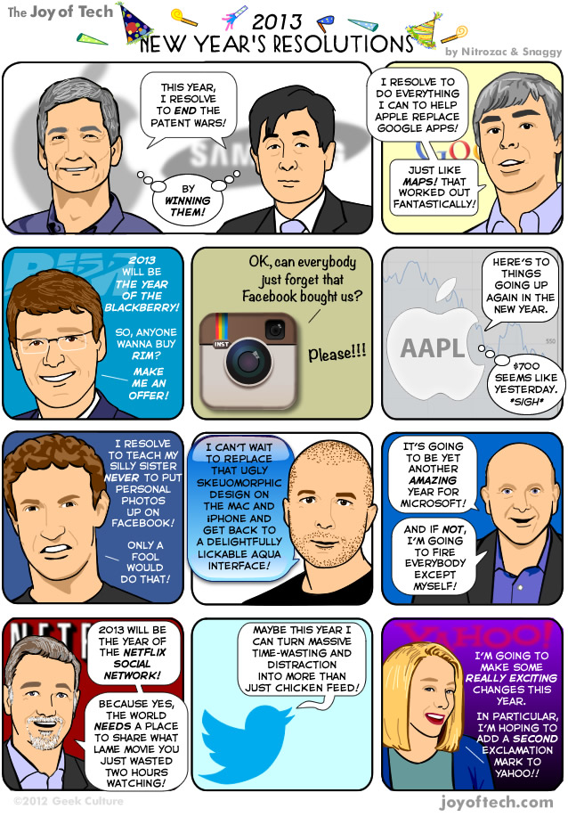 Resolutions: The Joy of Tech comic, used with permission