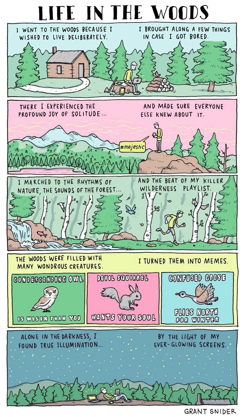 Life in the Woods, Grant Snider