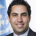 officeal portrait of Ahmad Alhindawi of Jordan as his Envoy on Youth,