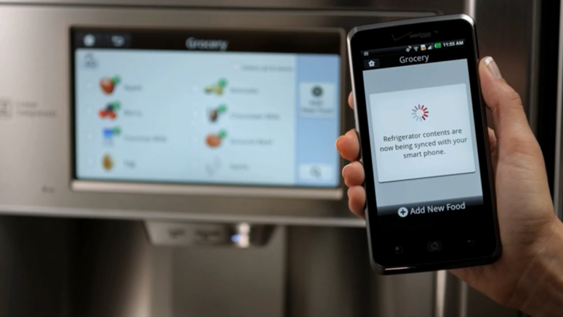 Smart Refrigerator - Internet of Things. Image Courtesy: Mashable.