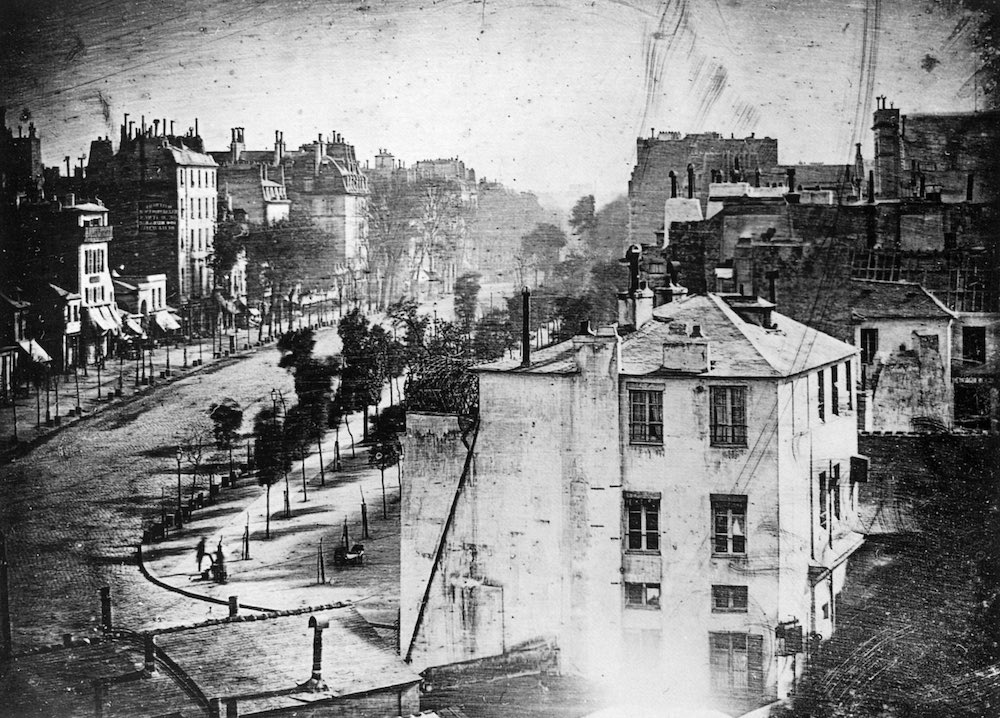 1838 The first photograph of a human being