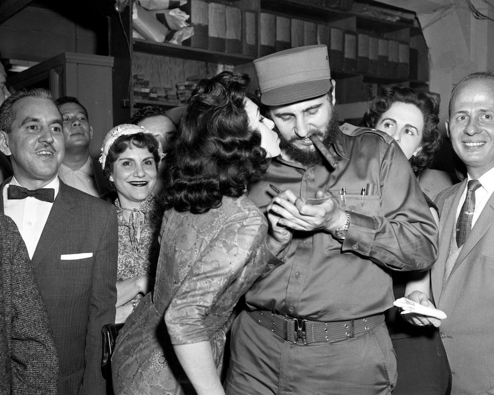 Fidel Castro 1959 Cuban Revolution of 1959  kisses Castro as