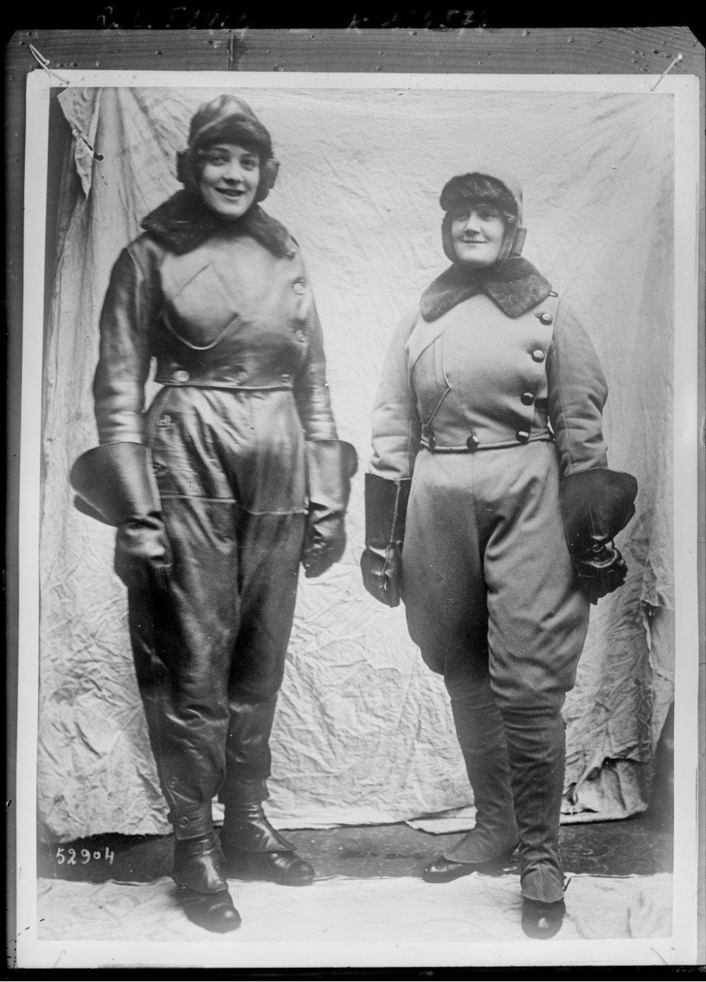 Women pilots in flying suits. IMAGE: NATIONAL LIBRARY OF FRANCE VIA EUROPEANA