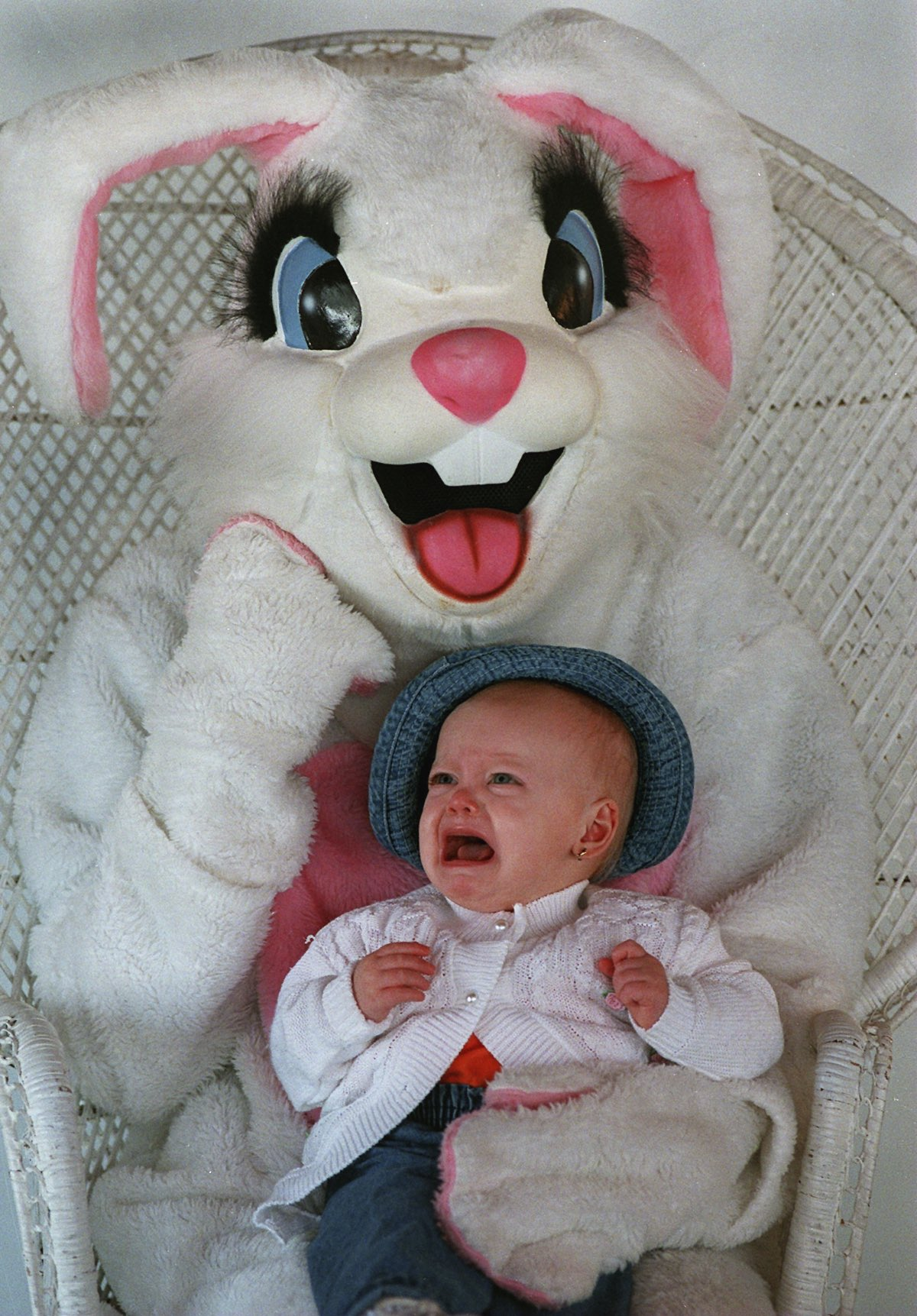 Scary Easter Bunny Photos These easter bunnies are