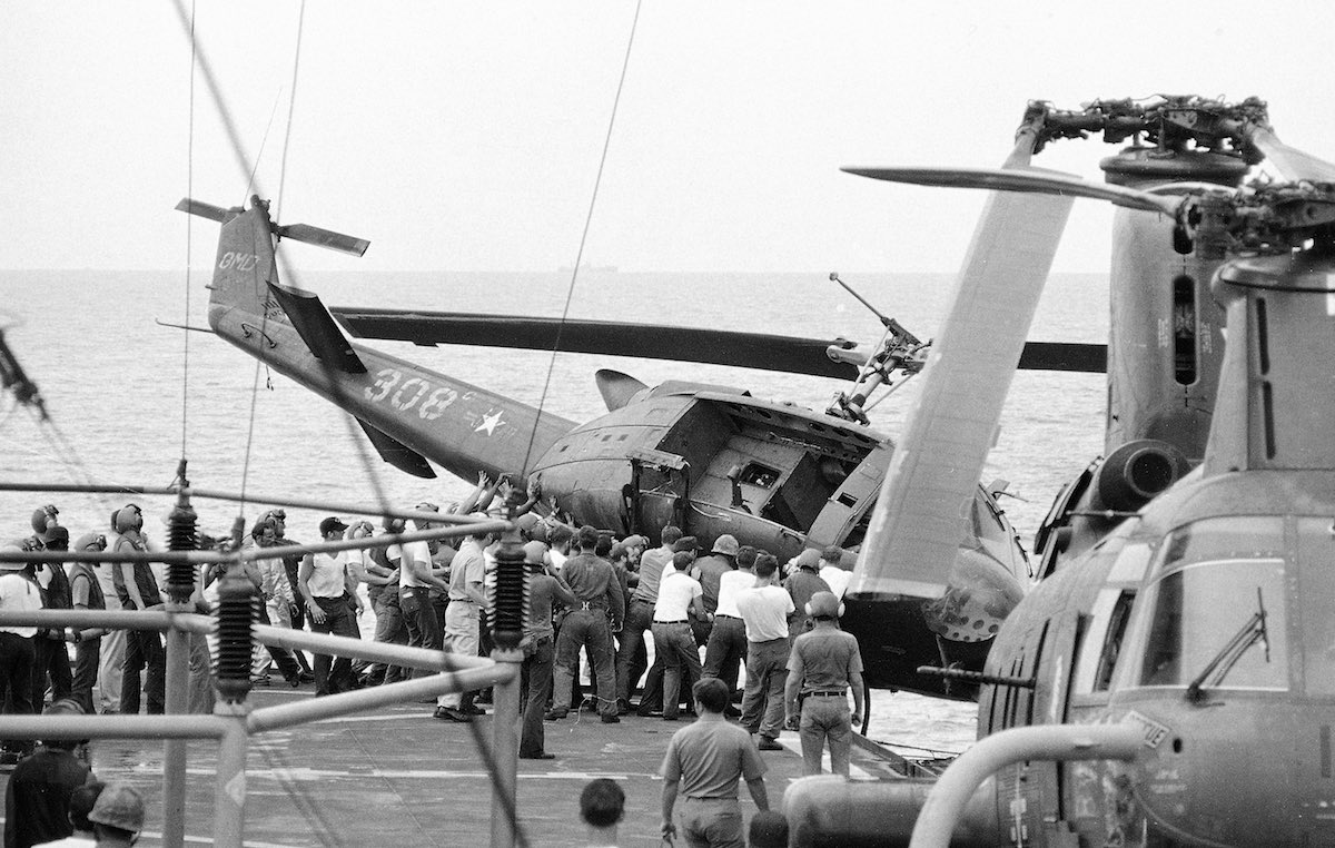 saigon vietnam 1975 helicopter story with Operation Frequent Wind on 6631430068484 further Operation Hawthorne In Vietnam 1966 1 besides 338966309439628669 together with Vietnam War Photos Still Powerful Nearly 50 Years Later F8C11404994 besides The Vietnam War As Seen On Newsweek Magazine Covers 1965 1973.
