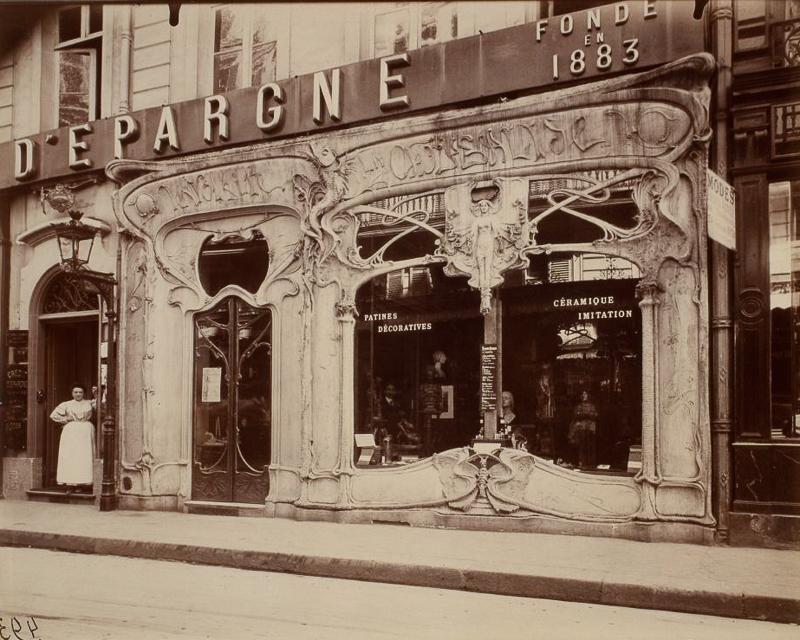 c1904. Boutique Art Nouveau, 45 Rue St. Augustin, Deuxième Arrondissement. IMAGE: EUGÈNE ATGET/GEORGE EASTMAN HOUSE