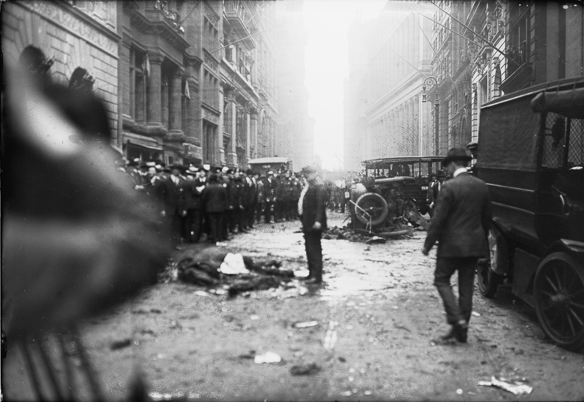 The Wall Street bombing in 1920 that the FBI never solved