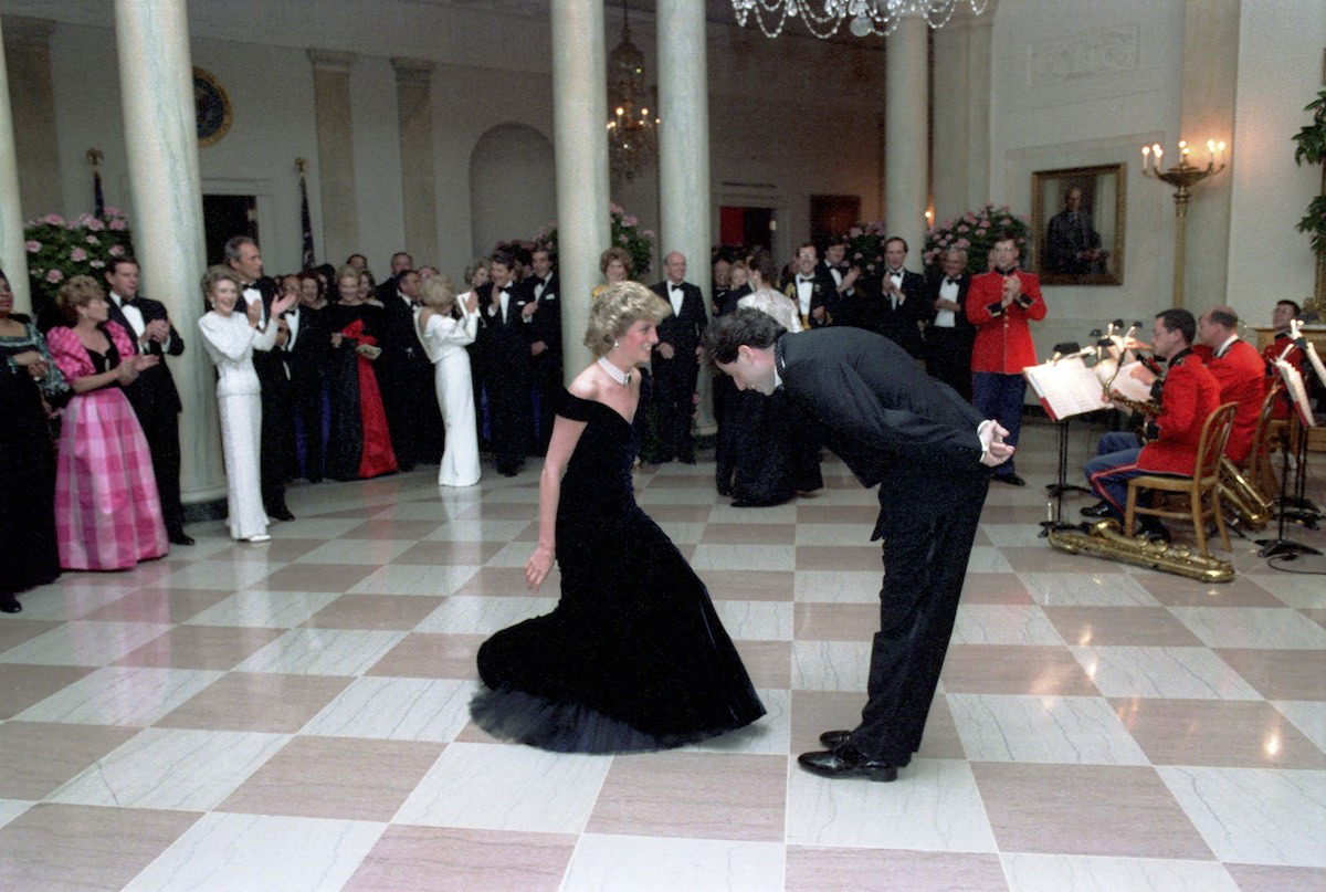 1985 Princess Diana And John Travolta On The Dance Floor