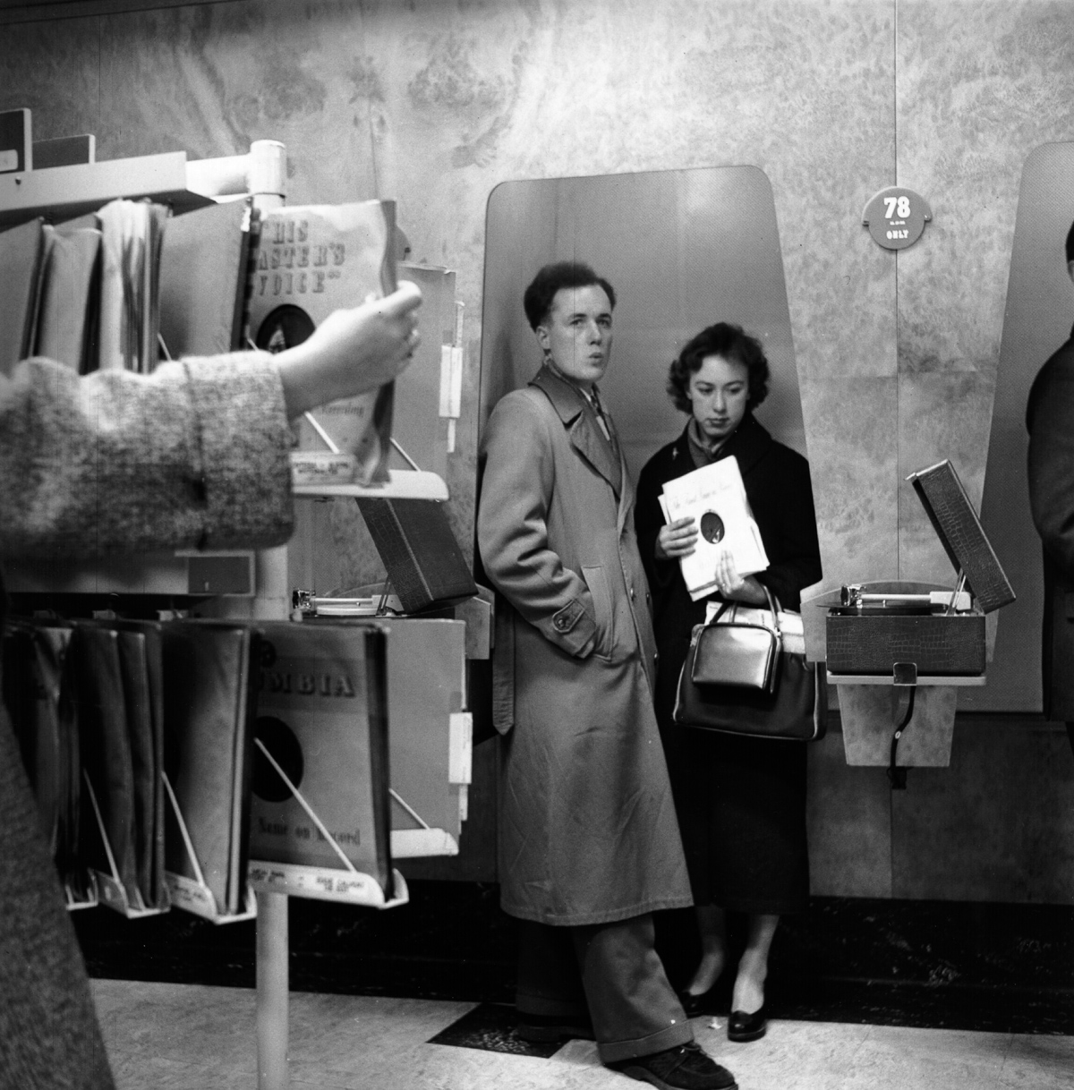 These 1955 Record Store Listening Booths Were Very Space Age